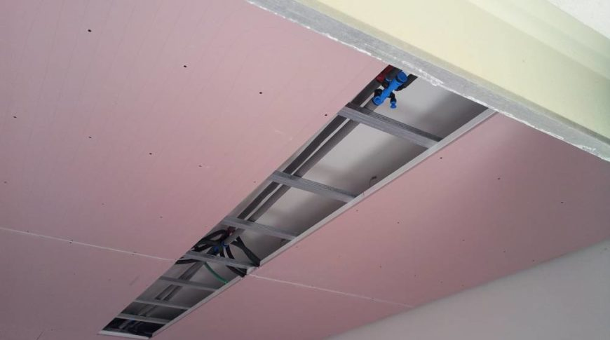 impianto radiante a soffitto